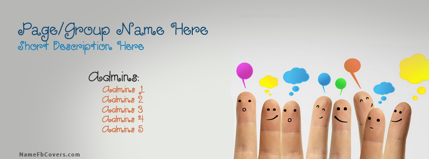 Write Your Name On Group Cover Photo With Facebook Covers