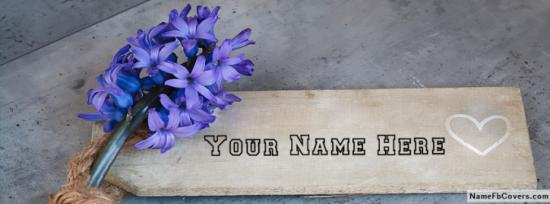 Beautiful Blue Flowers Facebook Cover Photo With Name
