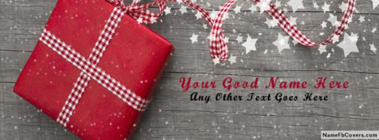 Beautiful Gift Pack Facebook Cover Photo With Name