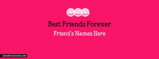 Best Friends Forever Facebook Cover Photo With Name