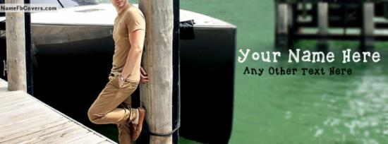Boy Stylish Pose Facebook Cover Photo With Name