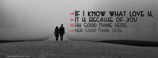Couple Walking Facebook Cover Photo With Name