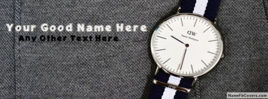 Daniel Wellington Watch Facebook Cover Photo With Name