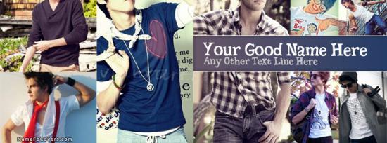 Dashing Guys Facebook Cover Photo With Name