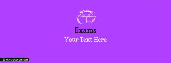 Exams Facebook Cover Photo With Name