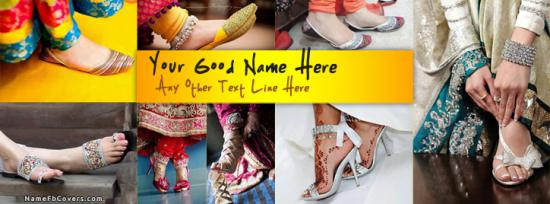 Girly Shoes Facebook Cover Photo With Name
