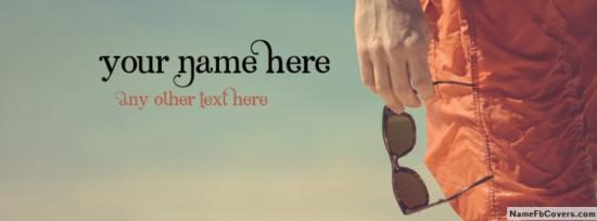 Glasses Guy On Beach Facebook Cover Photo With Name