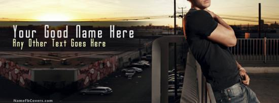 Guy in the evening Facebook Cover Photo With Name