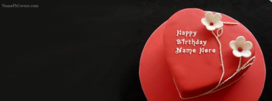 Happy Birthday Cake Fb Cover Photo Make With Name