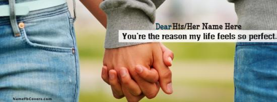 Holding Hands Forever Facebook Cover Photo With Name