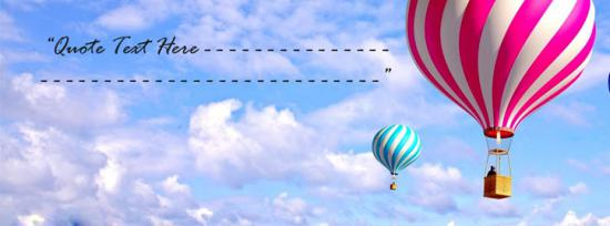 Air Baloons Facebook Cover Photo With Name
