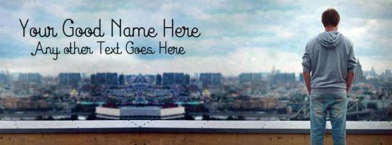 Alone Boy on Top Facebook Cover Photo With Name