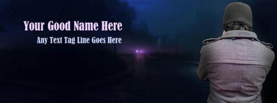 Alone Boy on Way Facebook Cover Photo With Name