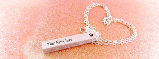 Aluminum Bar Necklace Facebook Cover Photo With Name