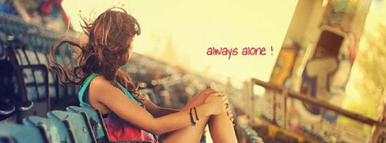 Always Alone Facebook Cover Photo With Name