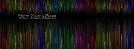 Amazing Colors texture Facebook Cover Photo With Name