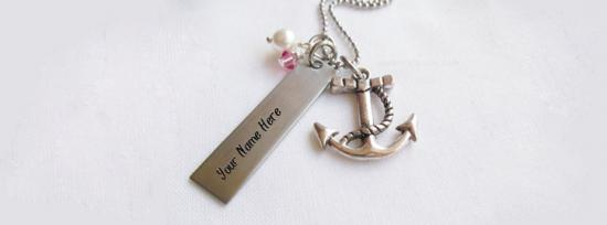 Anchor Necklace Facebook Cover Photo With Name