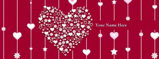 Awesome Heart Facebook Cover Photo With Name