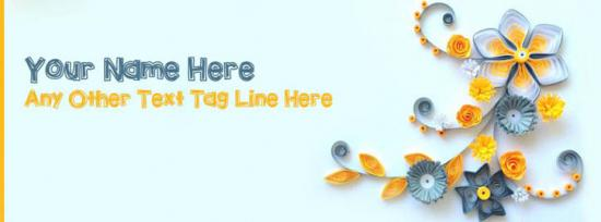 Awesome Paper Art 2 Facebook Cover Photo With Name