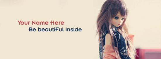 Be Beautiful Inside Facebook Cover Photo With Name