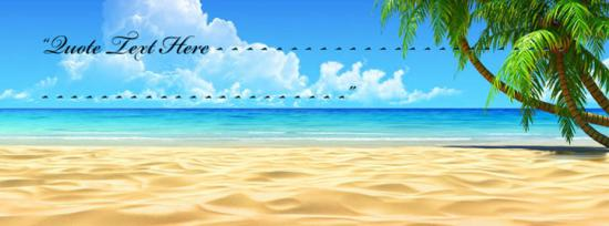 Beautiful Beach Facebook Cover Photo With Name
