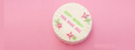 Beautiful Birthday Cake Facebook Cover Photo With Name