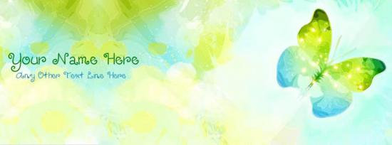 Beautiful Butterfly Facebook Cover Photo With Name
