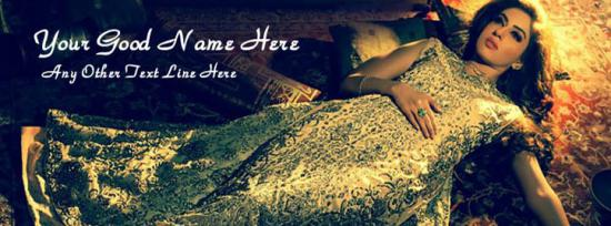 Beautiful Dress Facebook Cover Photo With Name