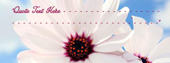 Beautiful Flower Quote Facebook Cover Photo With Name