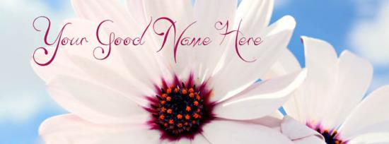 Beautiful Flower Facebook Cover Photo With Name