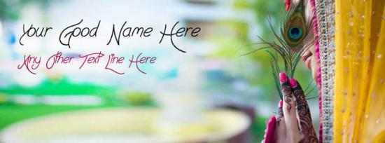 Beautiful Girl Style Facebook Cover Photo With Name