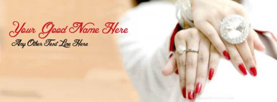 Beautiful Hands and Jewelry Facebook Cover Photo With Name