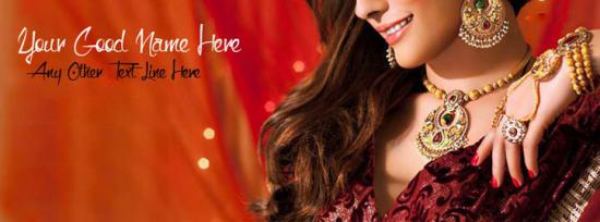 Beautiful Jewelry Girl Facebook Cover Photo With Name