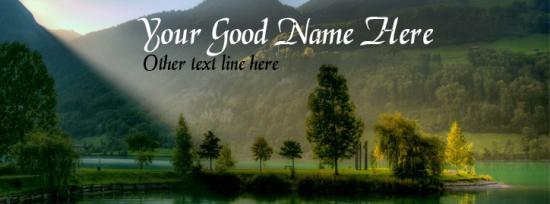 Beautiful Lake Facebook Cover Photo With Name