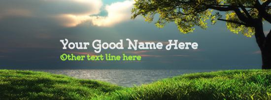 Beautiful Landscape Facebook Cover Photo With Name