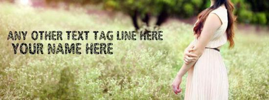 Beautiful Lonely Girl Facebook Cover Photo With Name