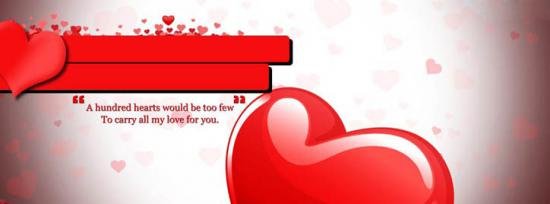 Beautiful LOVE Hearts Facebook Cover Photo With Name