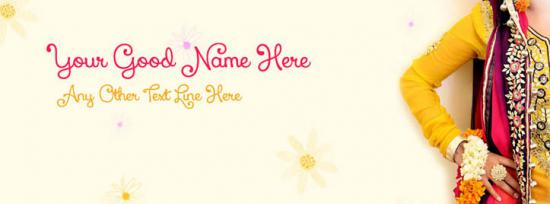 Beautiful Mehndi Girl Facebook Cover Photo With Name