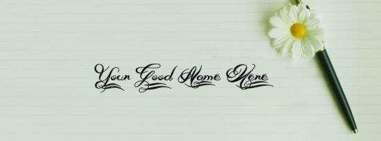 Beautiful Pen Art Facebook Cover Photo With Name