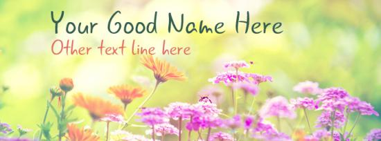 Beautiful Spring Facebook Cover Photo With Name
