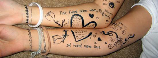 Best Friends Art Facebook Cover Photo With Name