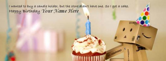 Birthday Wish Facebook Cover Photo With Name