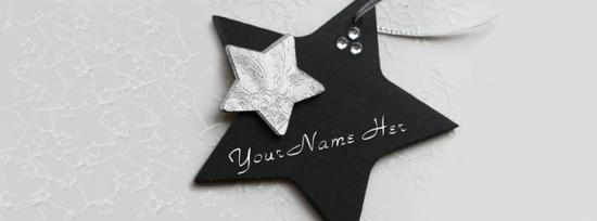 Black Star Facebook Cover Photo With Name