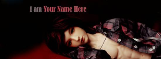 Boy Doll Facebook Cover Photo With Name