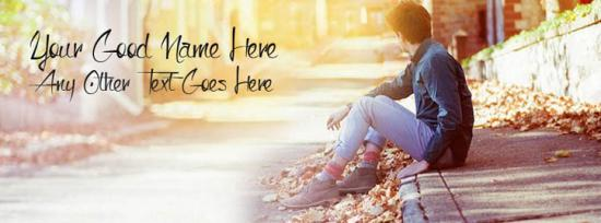 Boy waiting on the way Facebook Cover Photo With Name