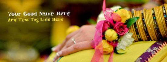 Bridal Hand Facebook Cover Photo With Name