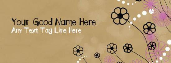 Brown bag floral Facebook Cover Photo With Name