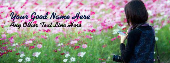 Camera Girl Facebook Cover Photo With Name