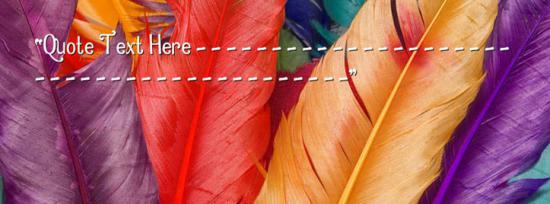 Colorful Feathers Facebook Cover Photo With Name