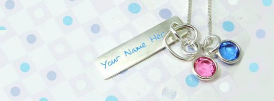 Colorful Pendant Facebook Cover Photo With Name